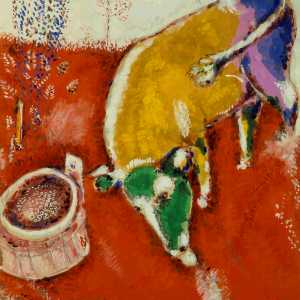 Marc Chagall, The Frog who would grow as big as the Bull, ca. 1927, gouache on paper. Royal Museums of Fine Arts of Belgium, Brussels, inv. 6825