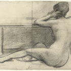 "Alix d'Anethan – ""Seated Woman from Behind (Study)""  (click to enlarge)"