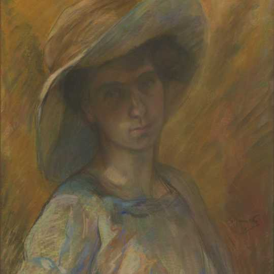 "G. Jamotte, ""Portrait of Paulette Deman"", 1909 (click to enlarge)"