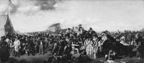Anonyme (d'après William Powell Frith) : Le Derby d'Epsom