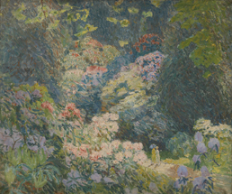 Emile Claus : Vallei der rododendrons te Kew mei 1915