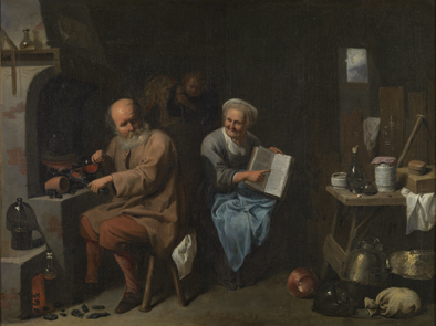 David III Ryckaert : Alchemist in zijn laboratorium