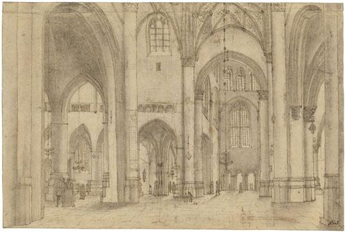 saenredam interieur van de sint bavokerk te haarlem verso
